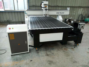 CNC Router. 1300 x 2500 x 200mm. 4th axis, Servo, Mach 3