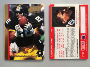 PAIR of RON WOODSON TRADING CARDS ACTION PACKED 1992