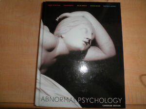 Abnormal Psychology textbook London Ontario image 1