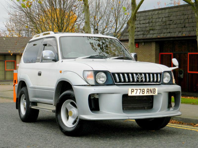 1996 P Reg Toyota Land Cruiser Prado 3 0 Td Swb Manual In White  Grey