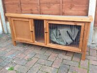 Guinea pig / rabbit hutch and cover