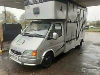 1995 Ford TRANSIT 190 LWB 2 HORSE HORSE BOX-DIESEL-DRIVEN ON NORMAL LICENCE-LONG