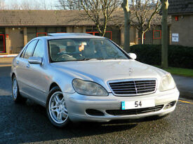 2004 54 Mercedes-Benz S Class 3.2 S320 CDI 4dr WITH LTHR+SUNROOF+AMG ALLOYS