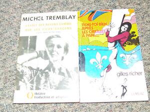 2 livres de pièces de théâtre québécoises
