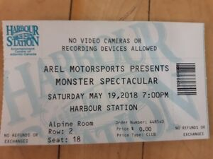 4 Tickets  Monster Spectacular at Harbour Station (Alpine Room)