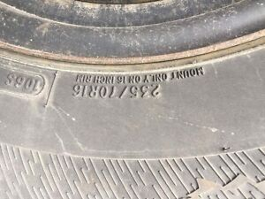 4 x Avalanche winter tires and rims, used 2 winters