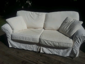 white couch / sofa