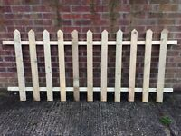 4ft picket fencing. Gates available £15 a panel.