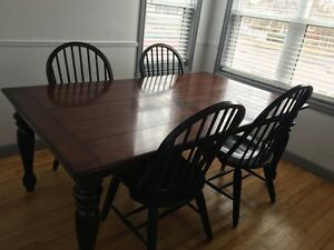 Dinning room set - buffet and 8 chairs
