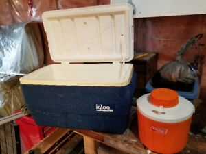 Camping Cooler and Thermos cooler