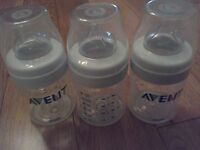 Philips AVENT Natural Bottles -x3- **BRAND NEW, NEVER USED!**