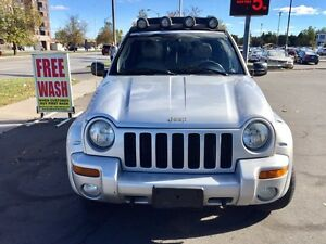 2004 Jeep Liberty Renegade  Low KM Certified & Etested