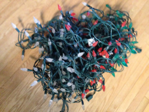 Free LED red green and white Christmas lights