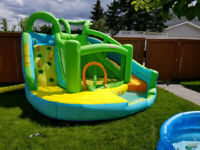 Having a indoor Kids Birthday PARTY! Rent this Inflatable island