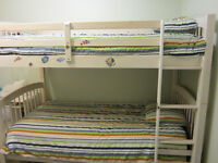 Bunkbed, Mattress and Bedding