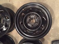 """Steel rims with 2"""" offset for S10 chevy, jimmy or blazer"""