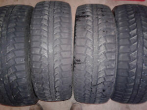 (4) 195/65R15 winter tires for sale