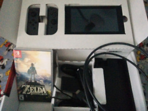 Nintendo Switch with breath of the wild