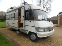 Hymer B654 LHD Fiat 2.5 Diesel 5 to 6 Berth For Sale 4 Seatbelts L shape Lounge