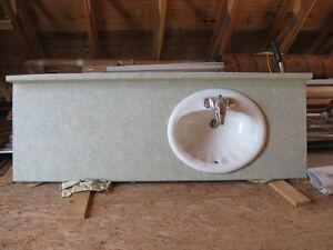 Vanity Top + Bowl + Faucet
