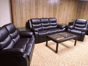 Brand New Brown Reclining Sofa, Loveseat and Chair