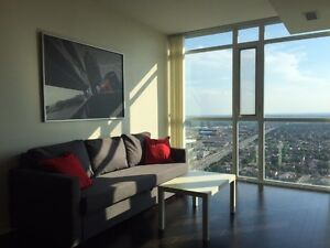 Fully Furnished -All Inclusive- 1+Den In City Centre Mississauga