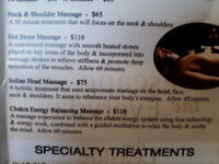 Spa at the Monastery gift certificate