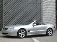 2003 MERCEDES BENZ SL 500 5.0 SPORTS CONVERTIBLE - ONLY 89000 MILES !!