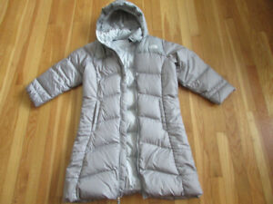 Girls North Face long winter down filled coat