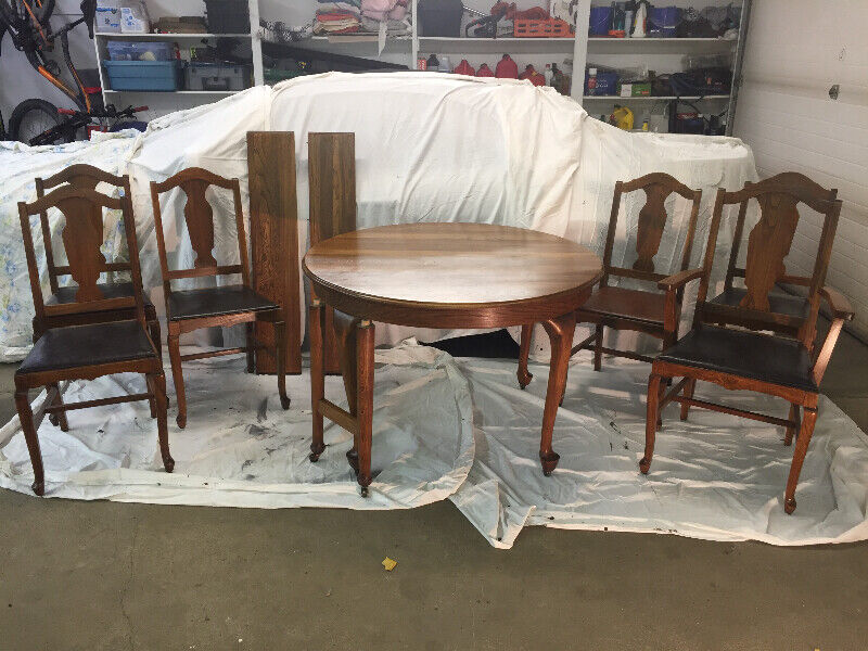 Antique-McTaggart, Queen Anne Style 7 piece dinning room ...