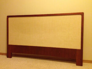 Teak-framed Headboard for Double or 3/4 bed