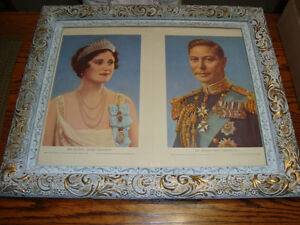 VINTAGE 1939 PRINT OF QUEEN ELIZABETH AND KING GEORGE VI