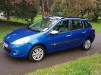 2010 60 Renault Clio 1.2 Sport Tourer I - Music 25,000 miles £3495