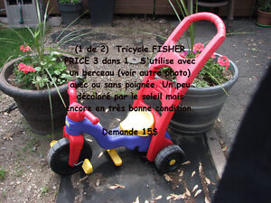 Tricycle Fisher Price (3 dans 1)