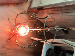 Vintage Metal Stand with Light