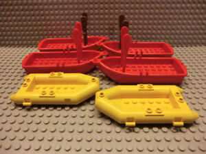 6 LEGO BOATS! (with paddles)