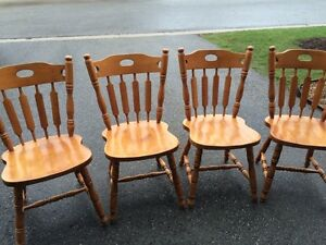 Solid Maple Hardwood Chairs