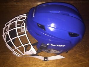 Easton E5 Adult XS Blue Helmet, Easton #700FM White Cage Small