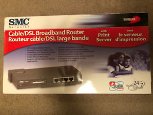 SMC Networks Cable/DSL Broadband Router - Brand New
