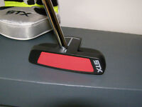"""L.H. 35""""  STX  Sync Series  Mallet Style Putter  (red Insert)"""