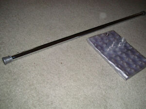 Chrome Shower Rod c/w Curtain * NEW*