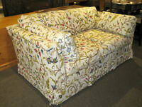 HIGH QUALITY LOVESEAT WITH CREWEL STITCHERY AT CHARMAINE'S