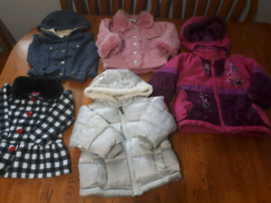 Girls 12-18m outerwear lot