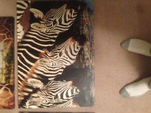 3D Living room painting set jungle safari paintings just bought