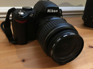 NIKON D60 + Nikon 18-55 lens + strap and charger all for $190