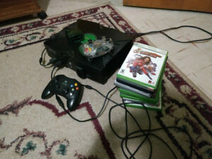 Xbox with video games