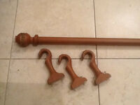 Curtain Rod with Brackets