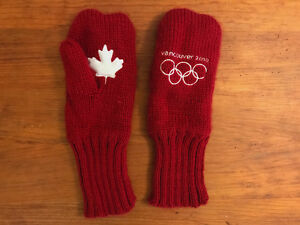 Vancouver 2010 collectible Olympic Team Canada mittens