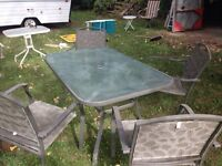 Patio Table and chairs $50