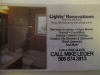 SPECIALIZED IN FULL BATHROOM RENOVATIONS